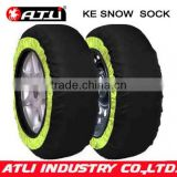 Hot selling quick mounting polyester fibre KE auto snow sock