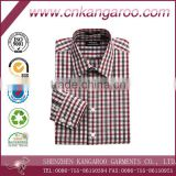 Mens long sleeves red black cotton gingham casual shirt