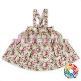 Latest Designer Girl Skirt Suits Baby Girls Shoulder Straps Floral Print Cotton Skirts Kids Girl Overalls Short Dresses