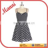 Manni 2014 Latest Black And White Polk Dot Vintage Fancy Dress For Party