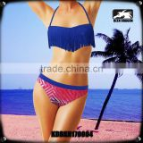 Hot sale woman swimsuit tassel design custom logo sexy mature bikini