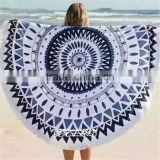 large circle custom printing cotton round beach towel