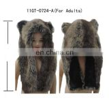 Faux fur animal hats for Adults ! plush bear Short style !