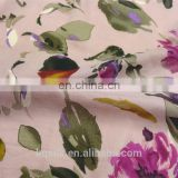 Printed flower 25% silk 75% cotton fabric