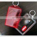 Clothing shape with custom design card inserted blank Acrylic keychain