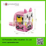 Plastic creative stationery carton cute animal pink cat pencil sharpener for children study