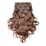 24 Inch Brown Virgin Tangle free Human Hair Weave Durable Healthy Malaysian