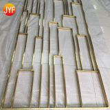 Jyf0009 Golden Stainless Steel Partition Screen And Room Divider