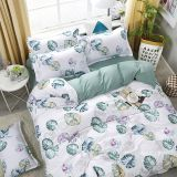 Blue Banana Leaf Pattern Bedding Set Bed Linings Duvet Cover Bed Sheet Pillowcases Cover Set