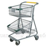 YLD-MT073-1F Two Basket Shopping Cart,Two Basket Shopping Cart Exporter,shopping trolley