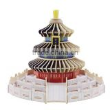 Chinese famous 3D building toy Temple of Heaven model decoration