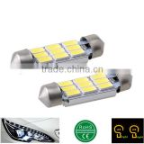 9SMD 5730 LED 6000K White 36mm No Error Free License Plate Light Interior Dome Lamp For Audi BMW Mini Coupe VW