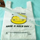 100% virgin clear plastic bag for super market shopping package with customized logo printing