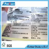 High quality Custom printing PET adhesive label stickers                                                                         Quality Choice
