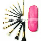 Custom logo 12pcs animal hair brush set professional cosmetics make up brushes