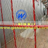 stainless steel Monkey Mountain fence, birds shelter net, tiger security rope fence,rope mesh with metal frame | generalmesh