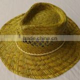 western cowboy hats natural kwai grass cheap for man