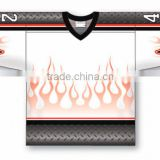 Custom flame design hockey jersey garment bag
