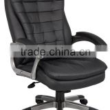 Boss High Back Executive Chair with Pillow top Pewter Finished Base and Arms