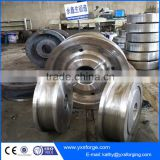 Free forging / open die forging railway vehicles wheels forging