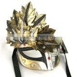 Gorgeous~ Anne Black Venetian Metal Masquerade Mask With Crystals silver venetian masquerade mask