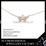 Rose gold plated necklace for Halloween Masquerade Mask shape pendant necklace for Sex girls wear in party