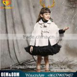Winter Children Christmas Coats Girl Cloak Kids Thick Cotton Outwear Children Keep Warm Shawls