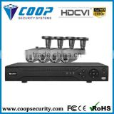 Smart Phone Network Monitoring Home Security System 4Ch HD CVI Kit Cheap Outdoor DVR kit