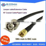 High Quality 50cm 20 inches Cable Connector BNC Male Jack Plug To SMA Male Straight Crimp RG316 Pigail Connector Cable