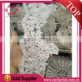 Wholesale fashion lace and beads beaded appliques bridal for dress decoration