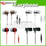 Factory good price In-Ear Headphones Metal Earphone for Mobile Phone MP3 PC with mic custom logo