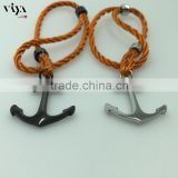 orange rope stainless steel anchor bracelet endless jewelry fashion man design with PVD plated Manufacture