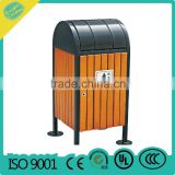 Wooden pubic recycle trash can,Good quality Outdoor Wooden garbage can