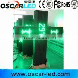 OSCARLED temperature /date display P16 Green LED Cross Sign
