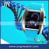 Alloy case PU leather watch aviator watch fashion led watch,aviator watch