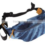 Premium quality denim waist pack fashion belt adjustable denim waist bag