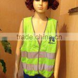 100 polyester work vest Customised safety vest with silk screen printing LOGO