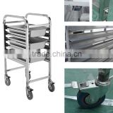 Cosbao sigle rows 6 layers tray trolley/kitchen serving trolley cart/bakery trolley (BN-T16~18)