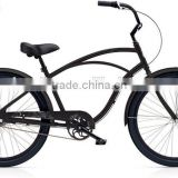 black color single speed men's bicycle 26 inch hi-ten steel frame beach cruiser bicycle for men