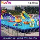 frame pool outdoor inflatable swim pool,intex adult swimming pool,Summer rectangular PVC above big metal frame pools