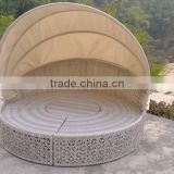 Cheap outdoor rattan round sofa bed round rattan daybed round sun bed                                                                         Quality Choice