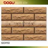 Irregular shaped ceramic clinker outdoor wall tile 60x240 natural design brick panel small size exterior decoration clinker tile