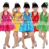 Children dance clothes modern stage latin performance skirt for girls Princess dresses many colors