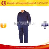 wholesale work wear, custom work uniform, dark blue cotton coverall for men