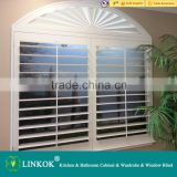 Wholesale china blinds outdoor external white wooden sliding window shutter
