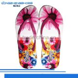 Fashional thermal transfer printing eva flip flop slippers