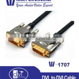 DVI-D Male to Male M-M Dual Link Video Cable for mobilephone ,projector