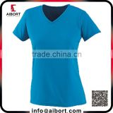 OEM dri fit design skin tight woman short sleev t shirt