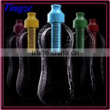 Portable filter water bottle Fashion Plastic Carbon Filter Water Bottle Sports bottle