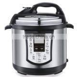 SAA 6L 1000W basic cheap 4 digital display stainless steel housing electric 8 cooking functions electric pressure cooker